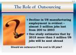 the role of outsourcing15