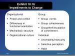 exhibit 18 1b impediments to change