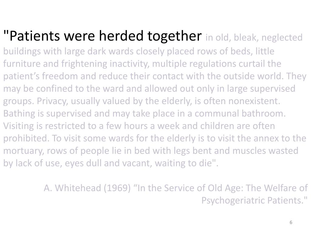 """""""Patients were herded together"""