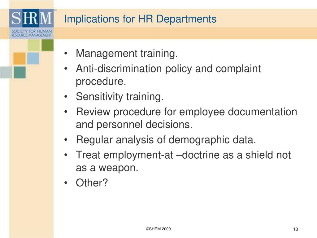 Implications for HR Departments