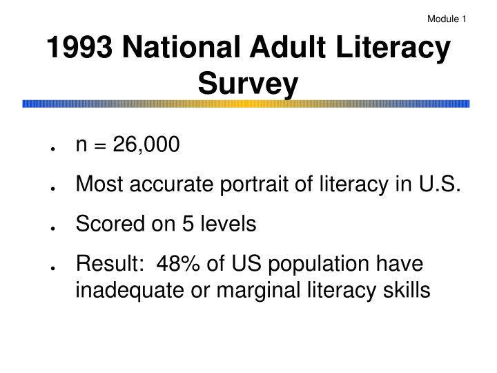 1993 national adult literacy survey