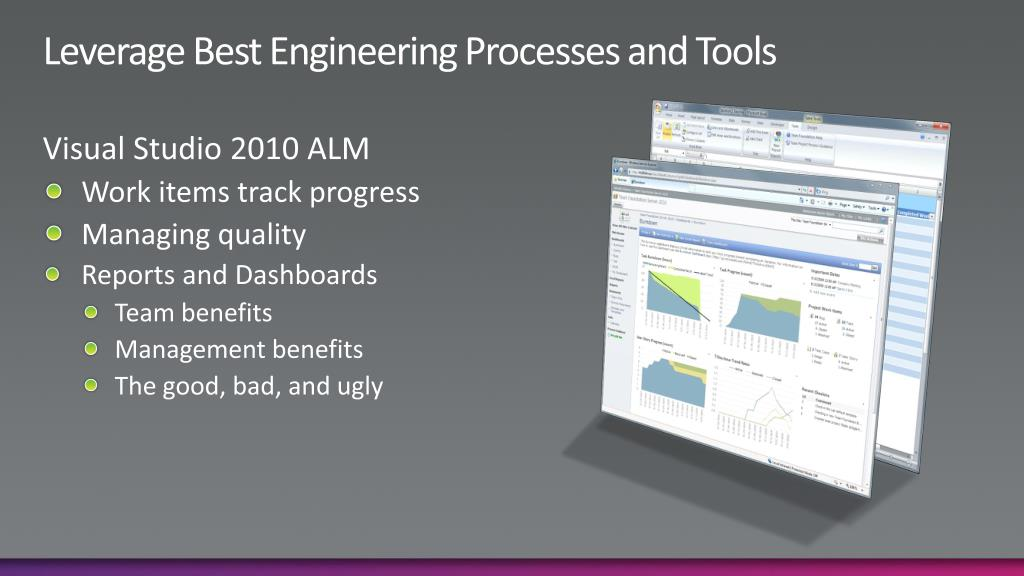 Leverage Best Engineering Processes and Tools