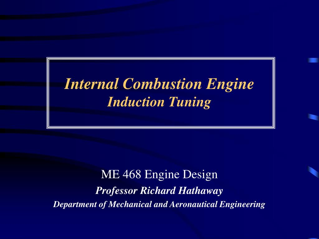 internal combustion engine induction tuning l.