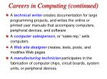 careers in computing continued33