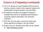 careers in computing continued34