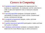 careers in computing