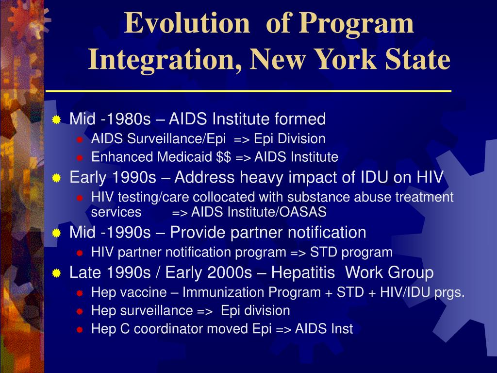 Evolution  of Program Integration, New York State