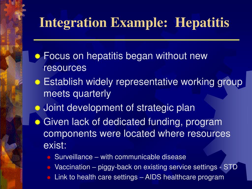 Integration Example:  Hepatitis