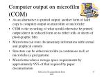 computer output on microfilm com