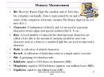 memory measurement