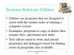 systems software utilities