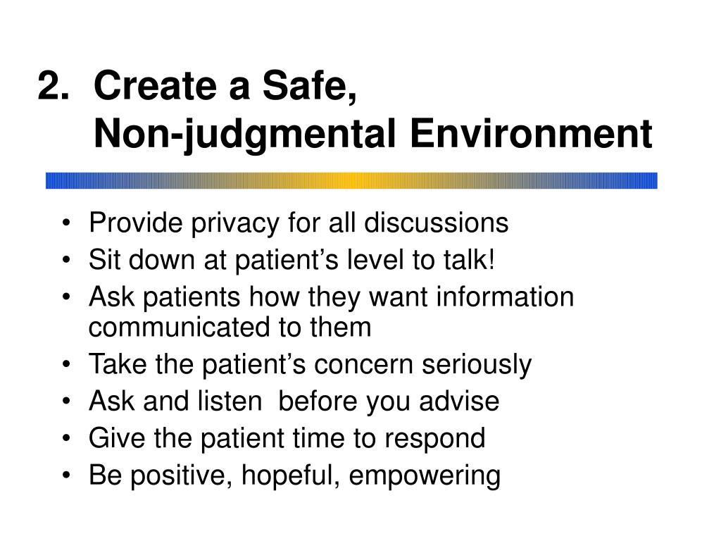 2.  Create a Safe,