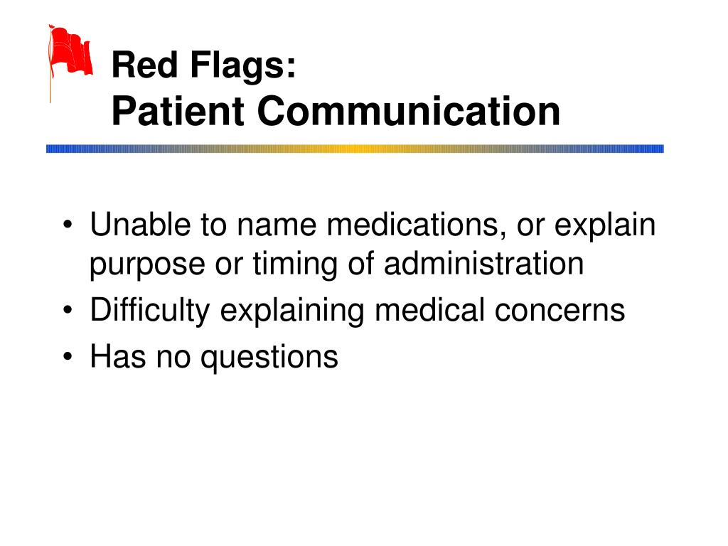 Red Flags: