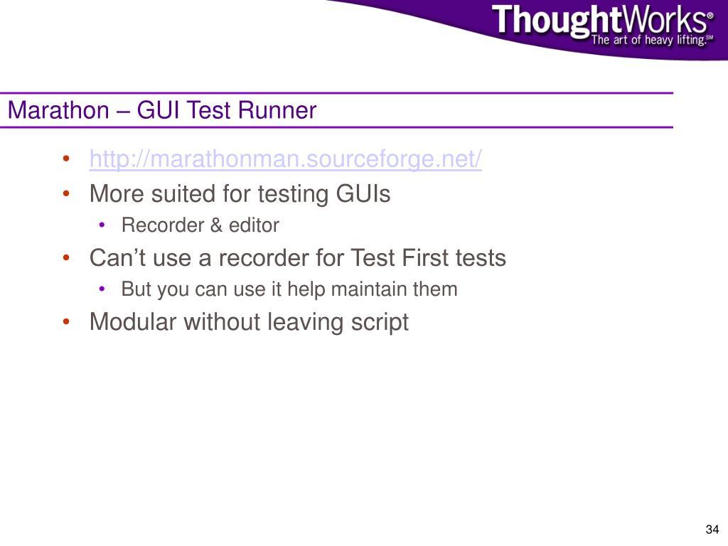 Marathon – GUI Test Runner
