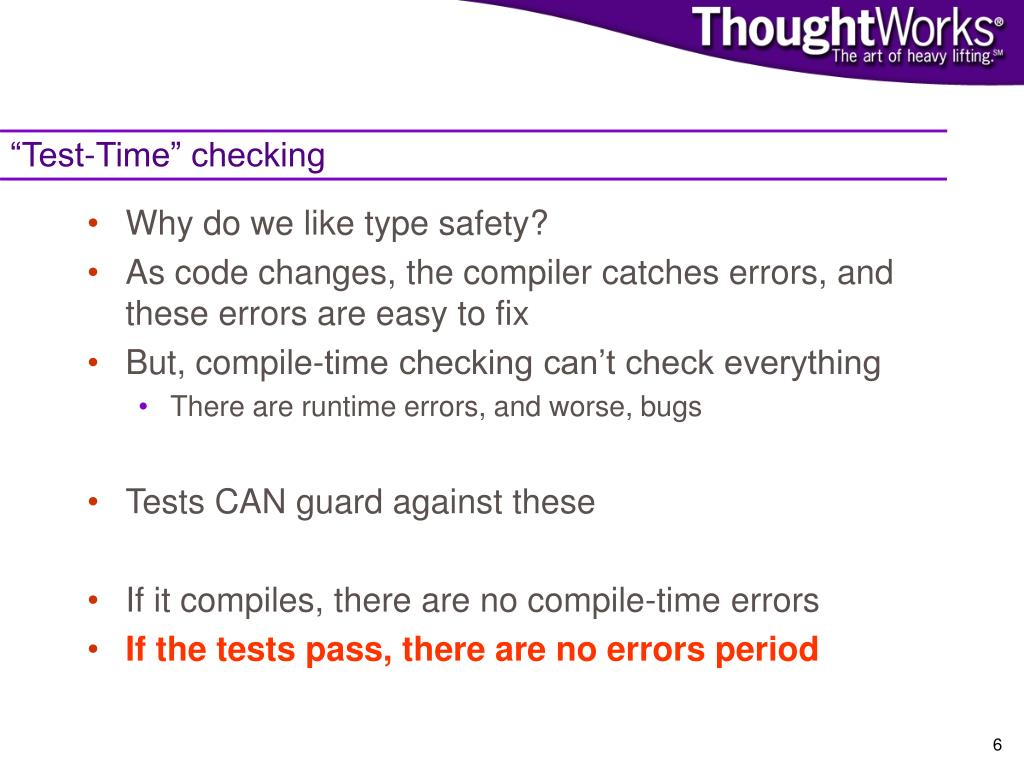 """""""Test-Time"""" checking"""