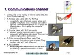 1 communications channel