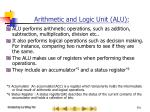 arithmetic and logic unit alu