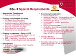 bsl 3 special requirements