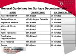 general guidelines for surface decontamination