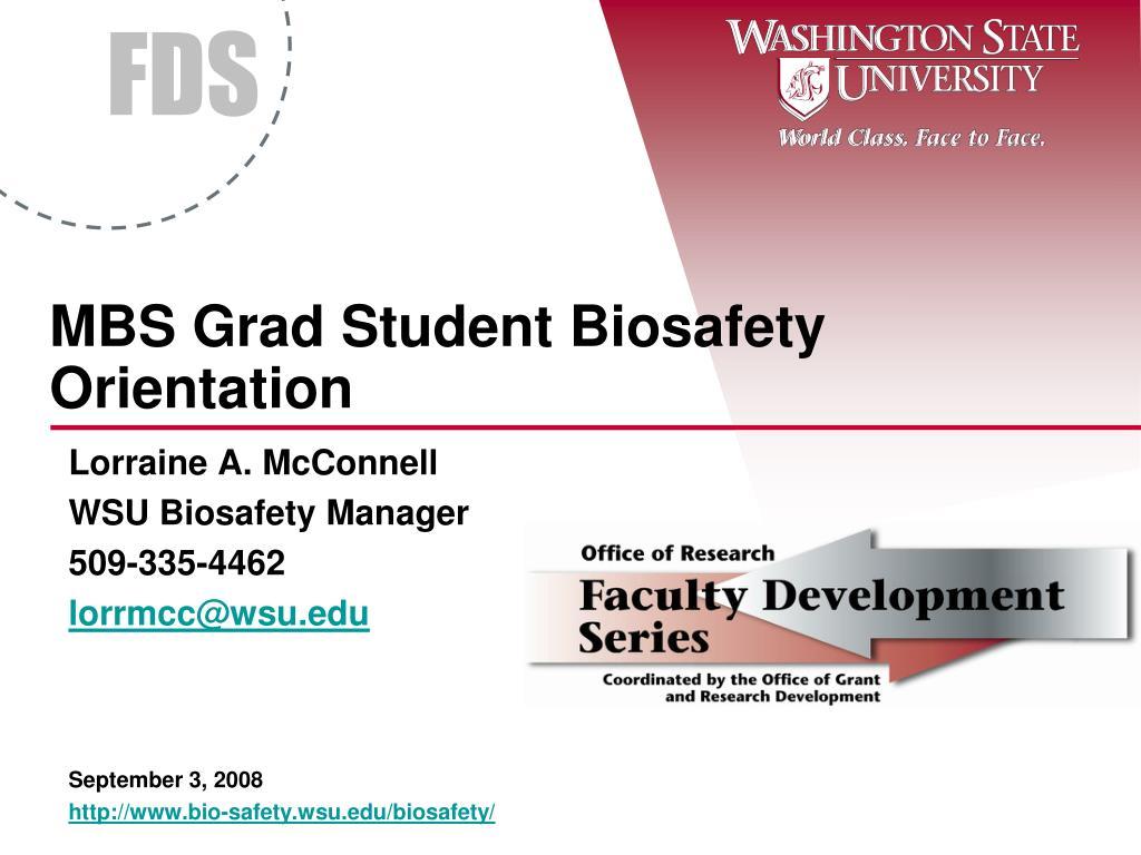 mbs grad student biosafety orientation