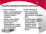 possible biological release scenarios