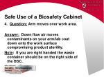 safe use of a biosafety cabinet48