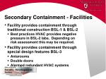 secondary containment facilities