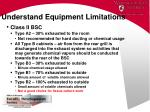 understand equipment limitations34