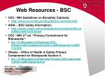 web resources bsc