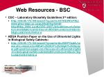 web resources bsc86
