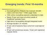 emerging trends first 10 months