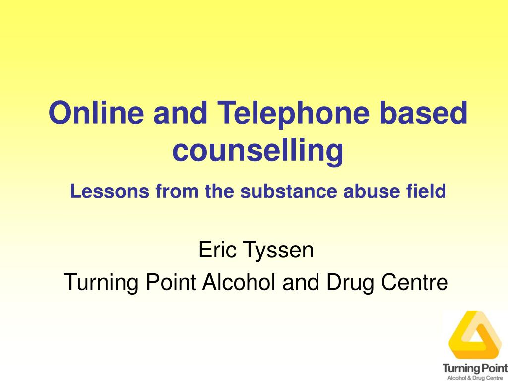 online and telephone based counselling lessons from the substance abuse field l.