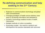 re defining communication and help seeking in the 21 st century
