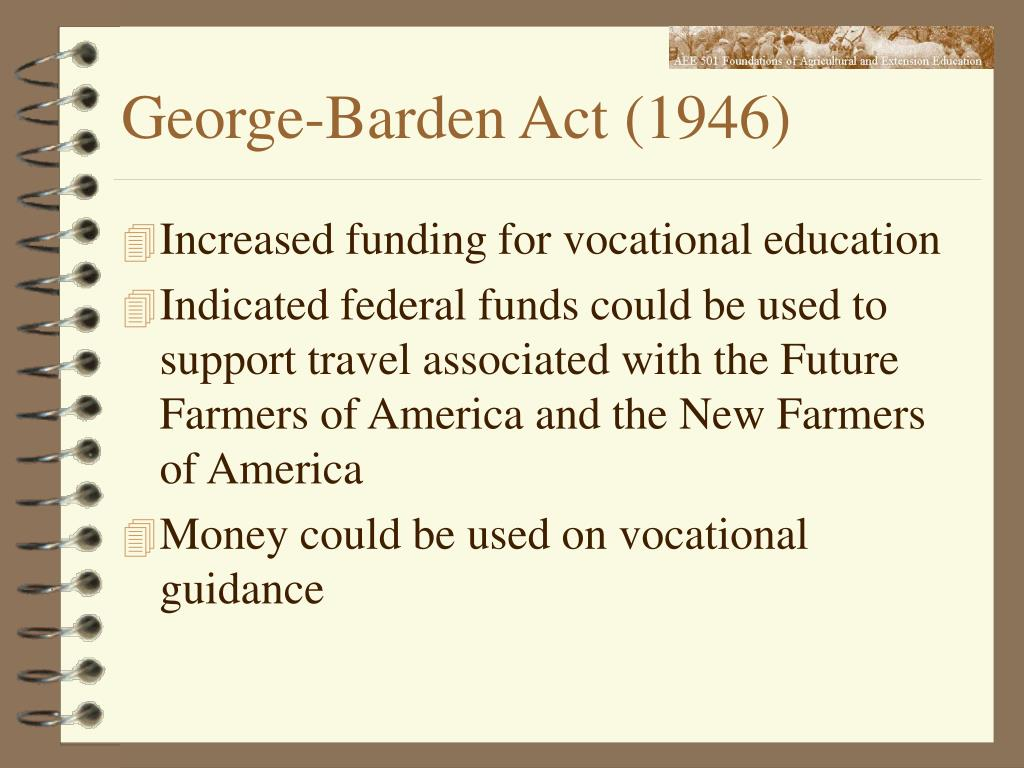 George-Barden Act (1946)