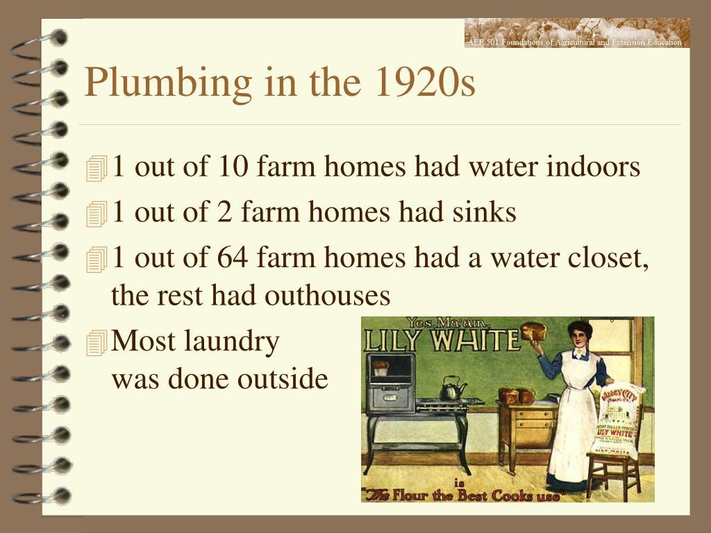 Plumbing in the 1920s