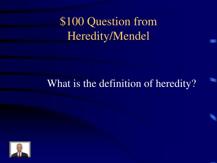 100 question from heredity mendel