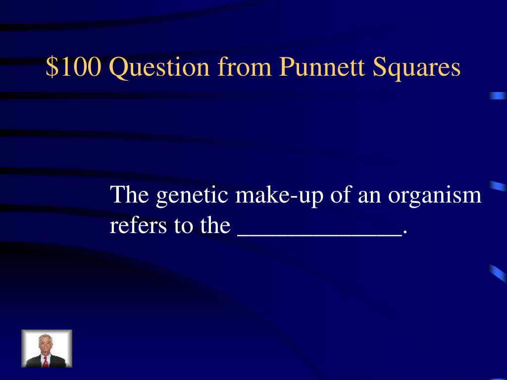 $100 Question from Punnett Squares