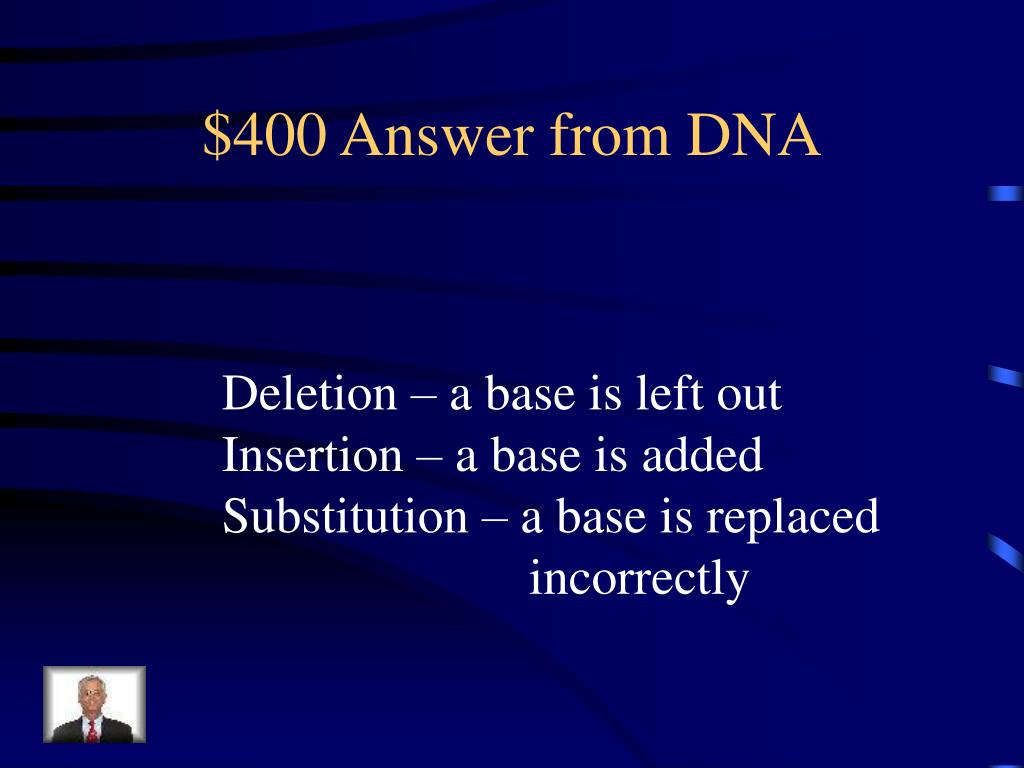 $400 Answer from DNA
