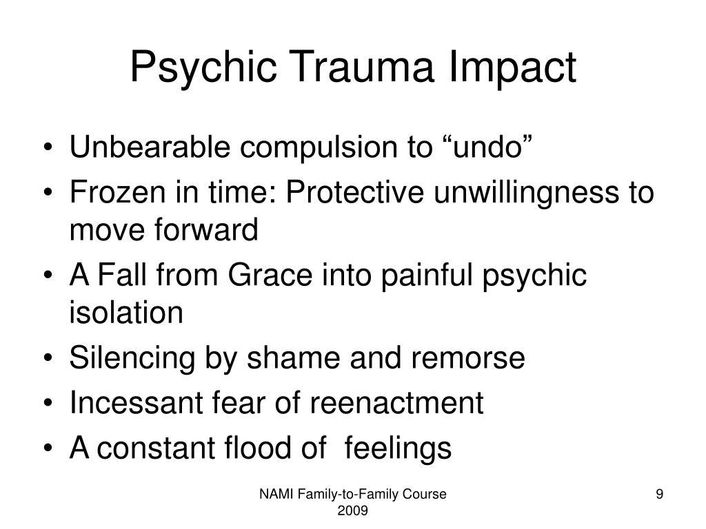 Psychic Trauma Impact