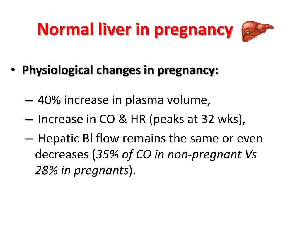 Normal liver in pregnancy
