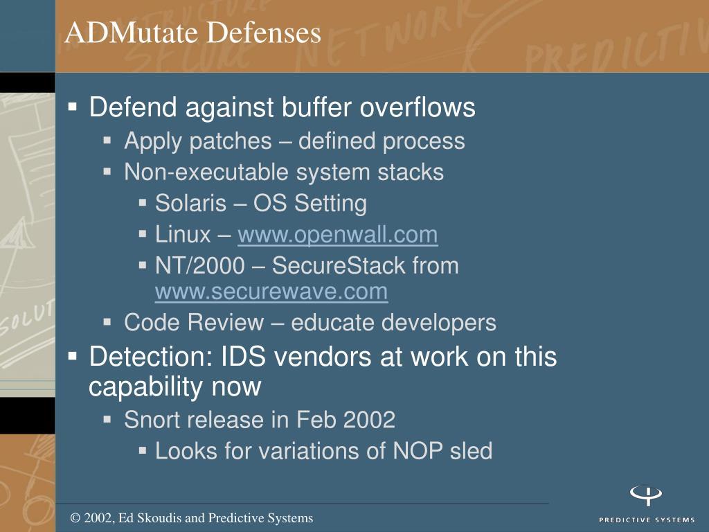 ADMutate Defenses