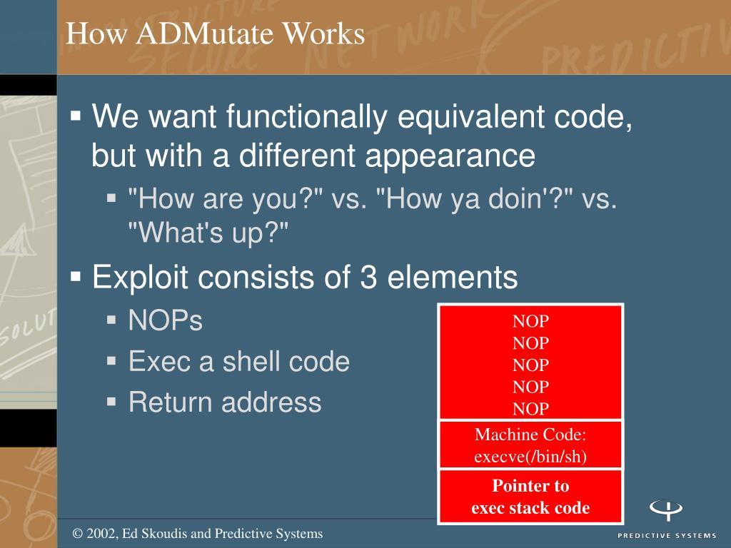 How ADMutate Works