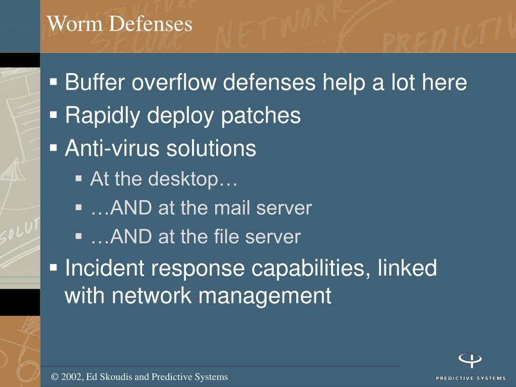 Worm Defenses