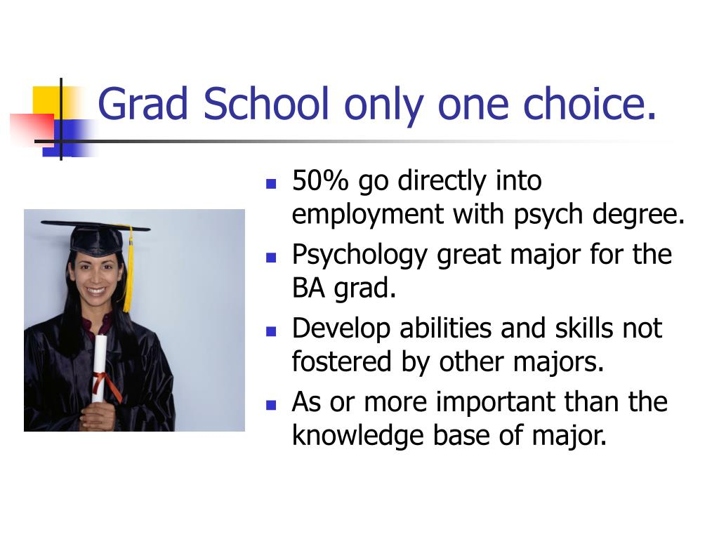 Grad School only one choice.