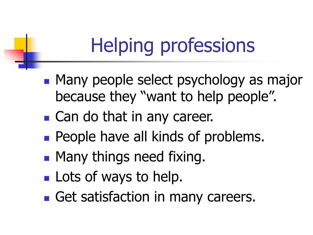 Helping professions
