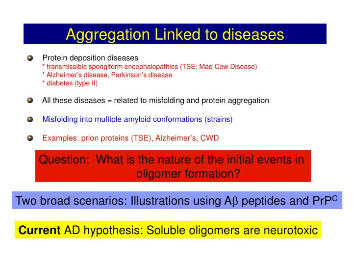 Aggregation linked to diseases