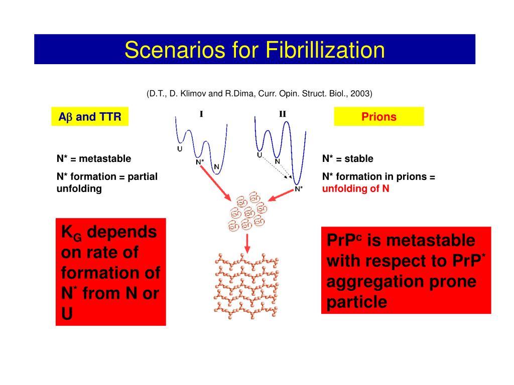 Scenarios for Fibrillization