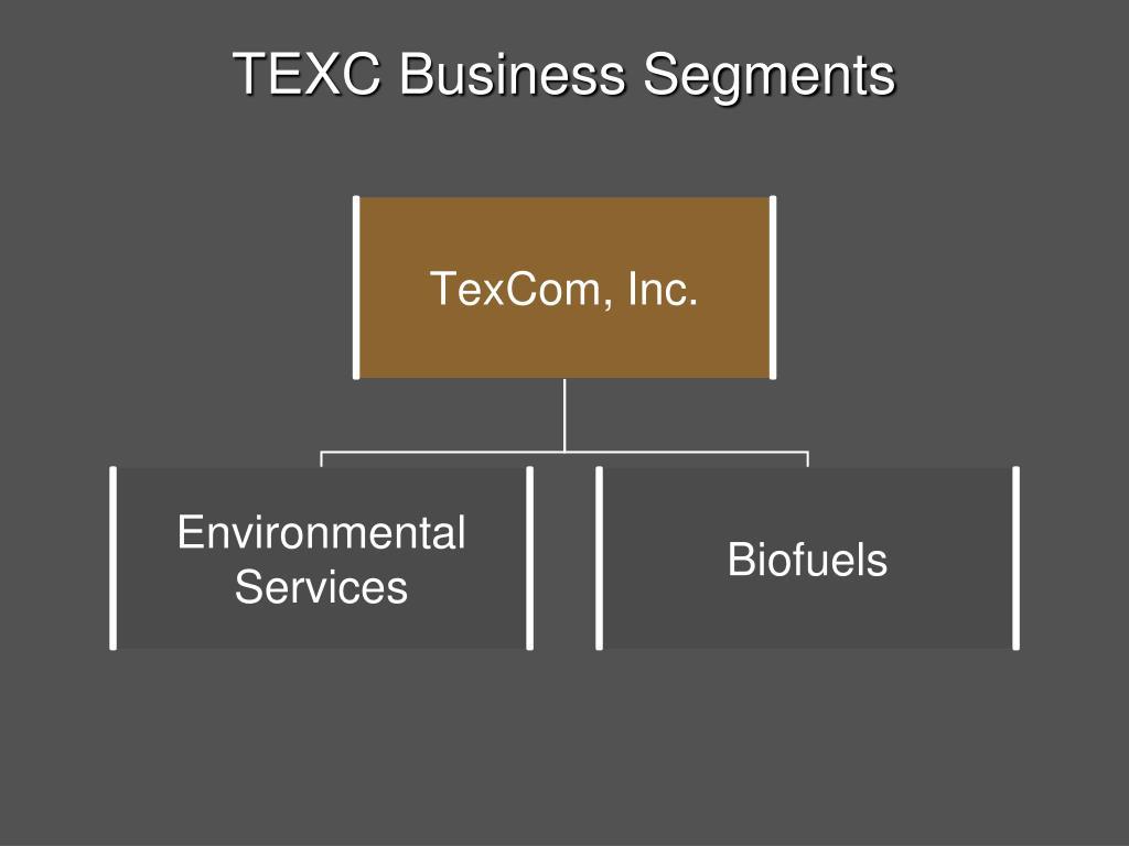 TEXC Business Segments