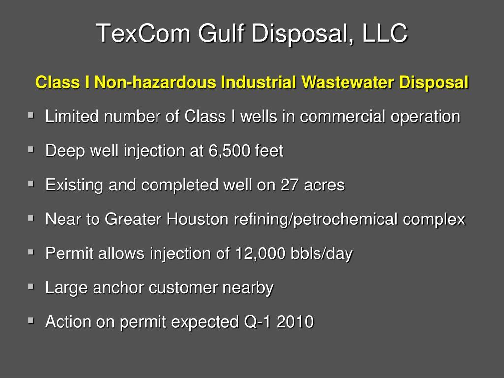 TexCom Gulf Disposal, LLC