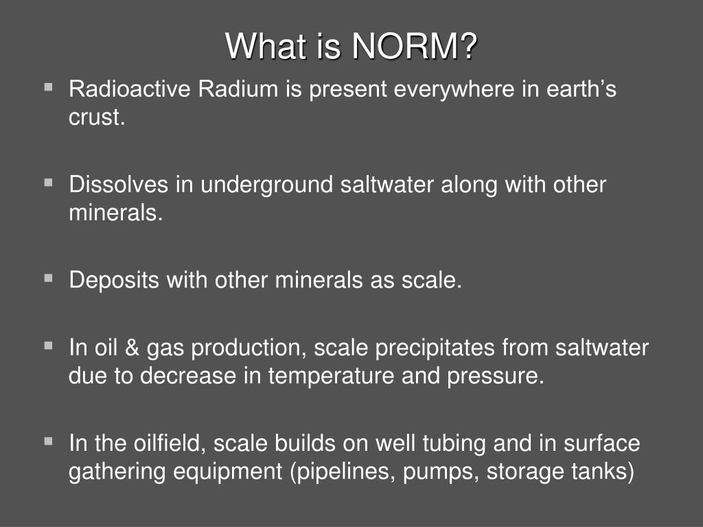 What is NORM?